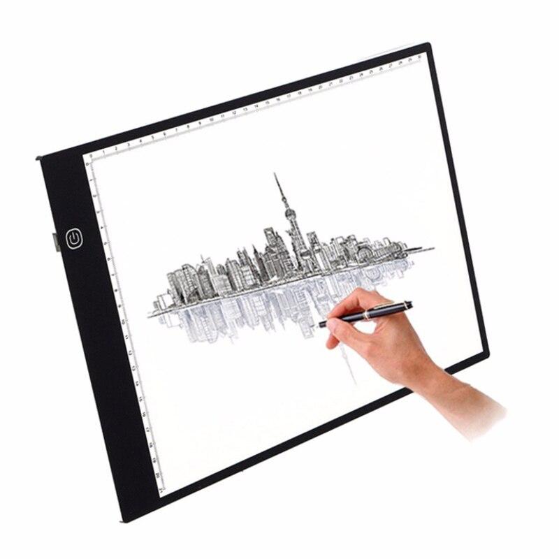 A4 LED copie planche, LED dessin copie traçage boîte à lumière avec luminosité réglable pour les artistes, dessin, croquis