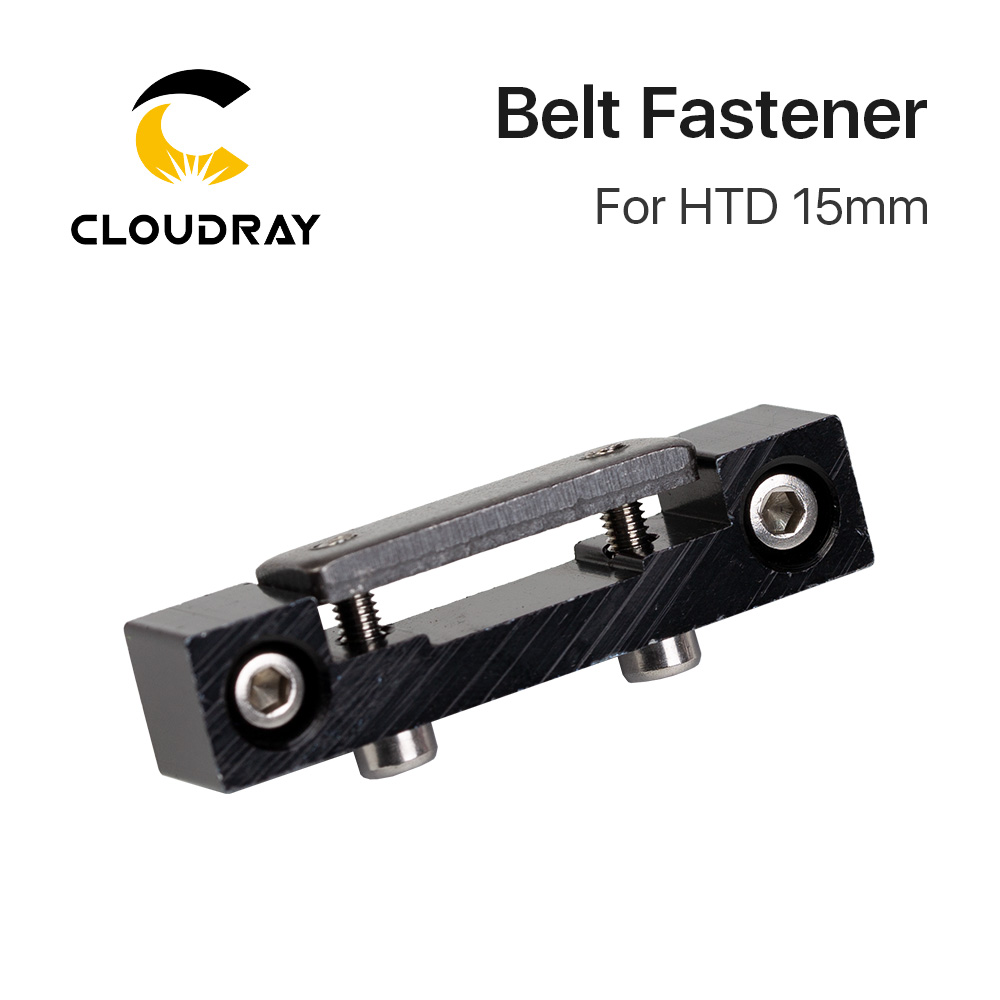 Cloudray E-series Belt Fastener For Width 15mm Open-Ended Timing Belt Transmission For X/Y Axis Hardware Tools Machine Parts