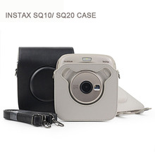 FUJIFILM 인스탁스 스퀘어 (times square) SQ20 SQ10 Camera Bag Case PU Leather Vintage Shoulder 끈 Pouch 카메라 보호 Carry Cover(China)