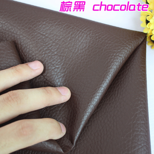 """Chocolate Big Lychee Pattern PU Synthetic Leather Faux Leather Fabric Upholstery Car Interior Sofa Cover  54"""" Wide Per yard"""