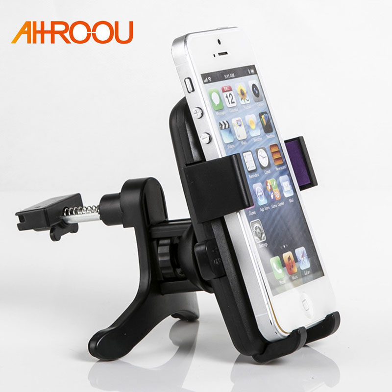 AHHROOU One-Click Release Car Phone Holder Universal Air Vent Mount Car Holders Stand Mobile Supports For IPhone Xiaomi Samsung