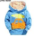 Little maven 2016 autumn winter boys brand clothes children warm Hoodies & Sweatshirts Cotton car surfboard fleece L010