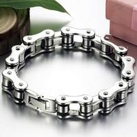 Punk 316L Stainless Steel Bracelet Men Biker Bicycle Motorcycle Chain Men s Bracelets Mens Bracelets Bangles