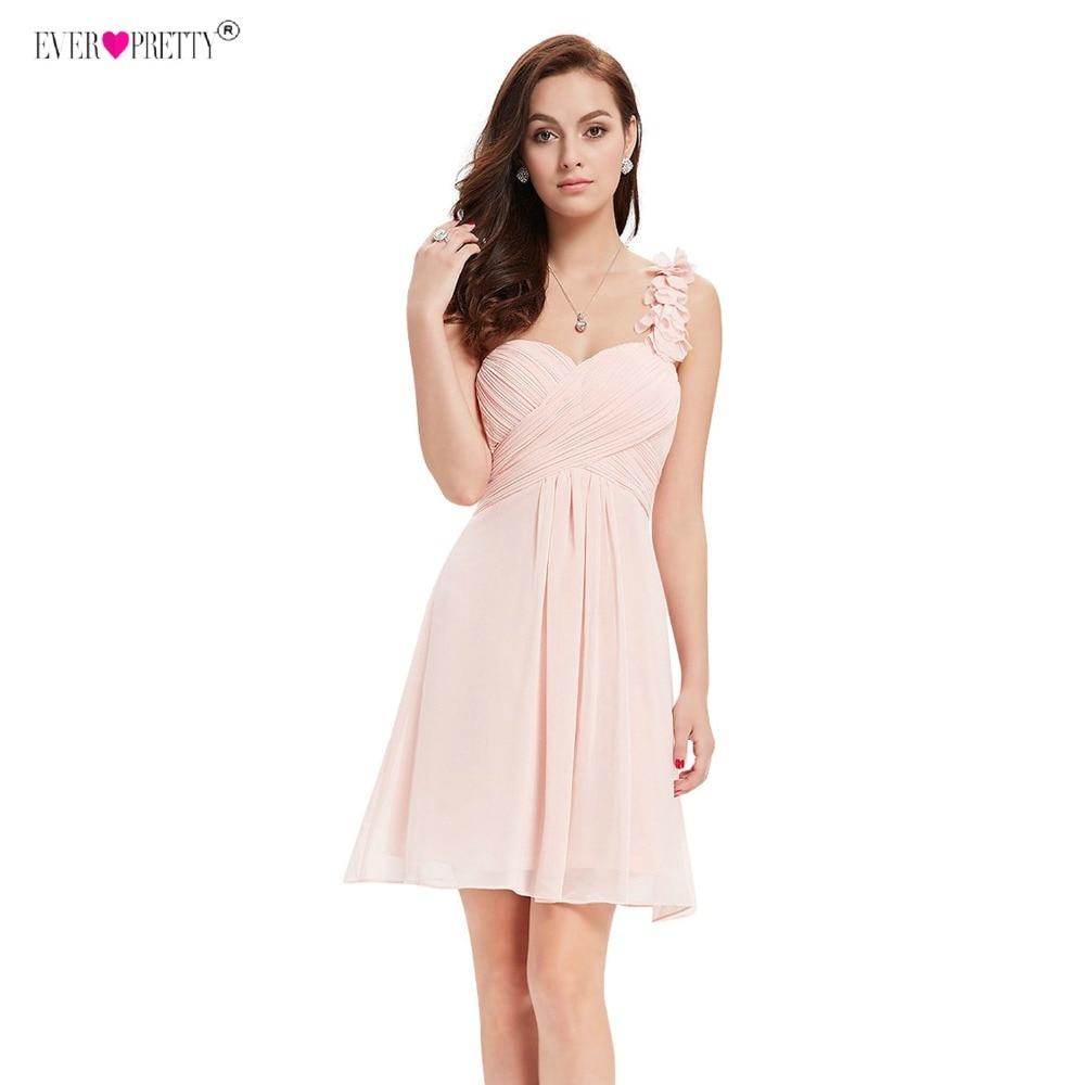 Image 3 - Cocktail Dresses Pink Chiffon Short Dresses Elegant Ever Pretty EP03535 A Line 2018 Special Occasion Party Dressescocktail dress pinkcocktail dressesspecial occasion dresses -
