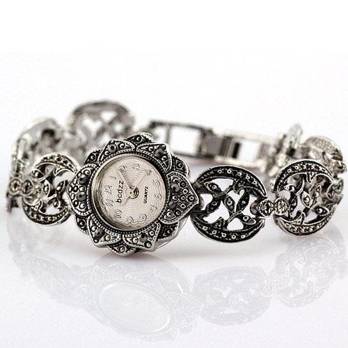 High Quality Women Rhinestone Watches Black Titanium Silver With Crystal Rhinestone Alloy Quartz Watch WristWatches Adjustable