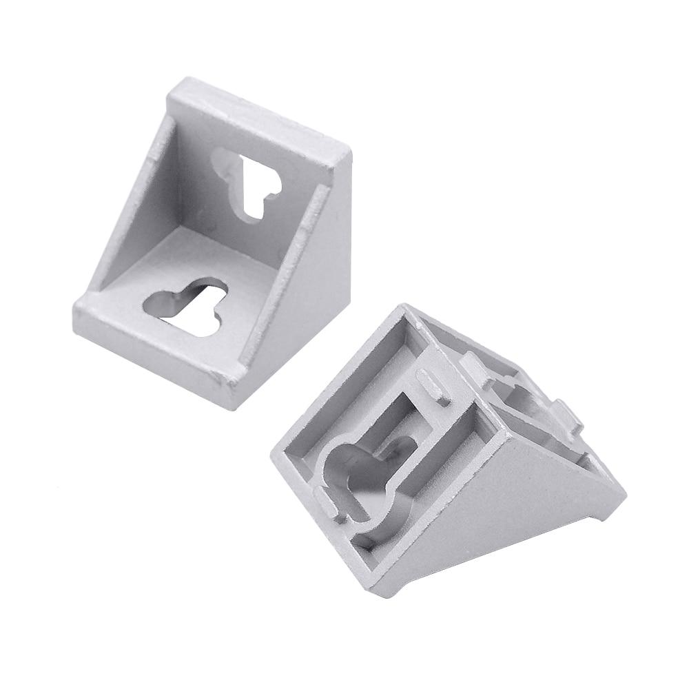 HOTSale 10pcs 4545 Corner Fitting Angle Aluminum L Type  Connector Bracket Fastener Match Use 4545 Industrial Aluminum Profile