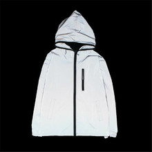 Mannen Jas Lente Herfst Reflecterende 3 m licht hoodies Jas beweging Hip Hop Waterdichte Windbreaker hooded Fluorescerende Mannen Jas(China)