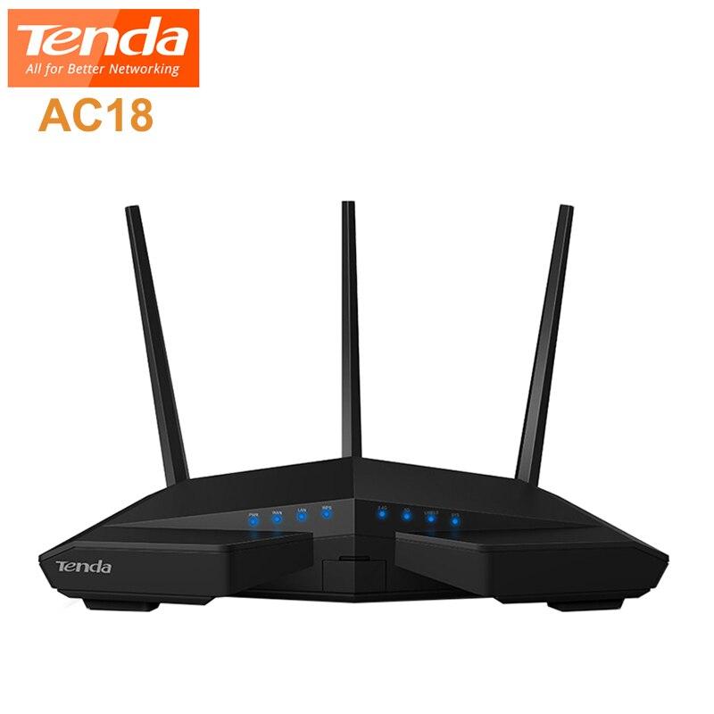 Routeur sans fil Tenda AC18 double bande Cortex A9 double cœur 1900 M 11ac 1000 M LAN 4 ports DDR3 répéteur WiFi sans fil pour la maison Ganimg