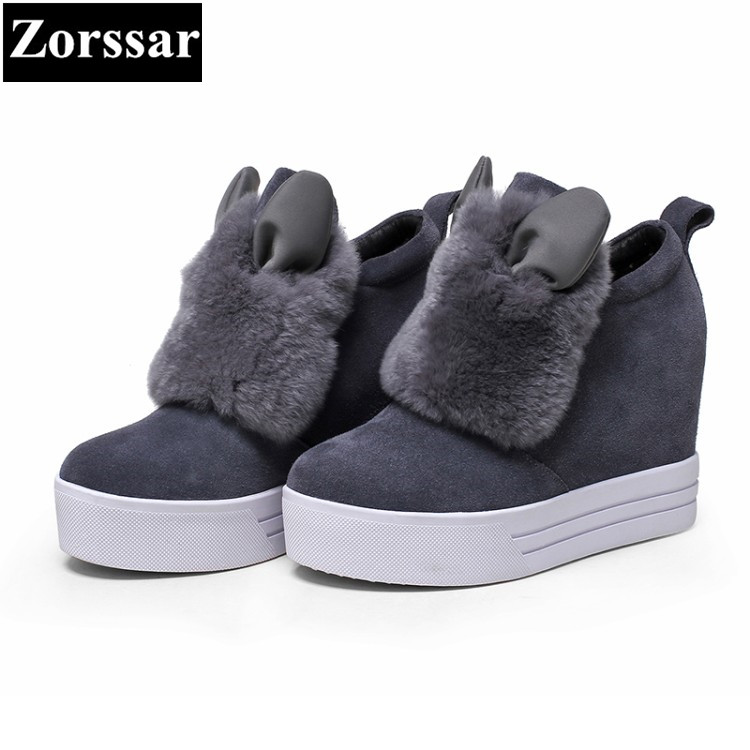 {Zorssar} 2018 NEW Women wedge high heels casual shoes Platform Pumps Woman height increase shoes Leisure slip on Women shoes nayiduyun women genuine leather wedge high heel pumps platform creepers round toe slip on casual shoes boots wedge sneakers