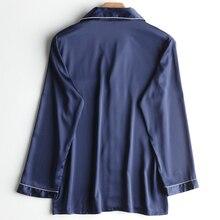 Men's Long Sleeves Silk Pajamas