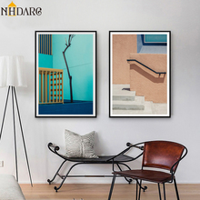 Colorful Architectural Landscapes Nordic Canvas Poster Painting Scandinavian Decorative Picture Modern Living Room Home Decor