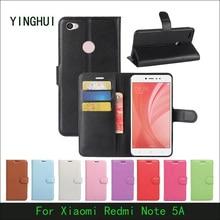 Фотография For Xiaomi Redmi Note 5A PU Leather Back Cover Case For Xiaomi Redmi Note 5A Case Flip Protective Phone Case