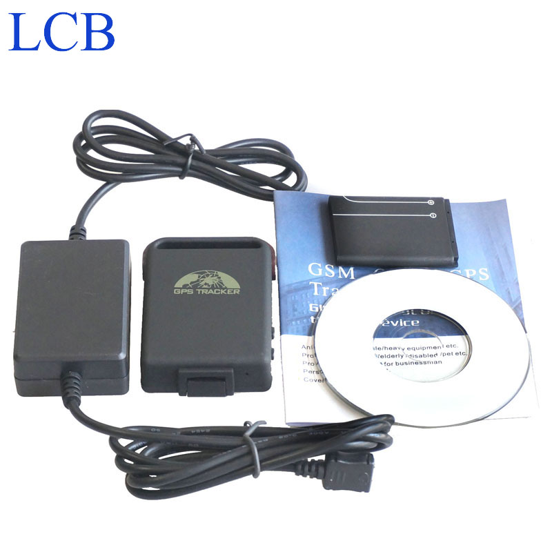 Brand Coban GPS tracker TK102B 4 band gps tracker with 2 wires Car battery charger support