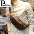 New  fashion PU leather men waist messenger bag cross outdoors travel bag Money Belt Waist Pack fashion brown free shipping
