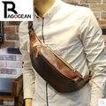 Nueva moda de cuero PU mensajero hombres de la cintura cruz al aire libre viajar cinturón de dinero moda paquete de la cintura brown envío gratis