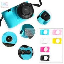ソフトフレームラバーシリコンケースハウジングカバープロテクター用ソニーa6000 ILCE6000 ILCE 6000カメラ
