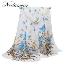 New Fashion Women Printing Long Soft Wrap Scarf Ladies Shawl Scarves Womens Print foulard femme silk Chiffon