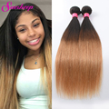 1b/27 Ombre Hair Bundles Peruvian Straight Virgin Hair Weave Ali Moda Ombre Human Hair Extensions Peruvian Virgin Hair Straight