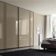 Современный шкаф раздвижные двери белый лак двери заказной шкаф