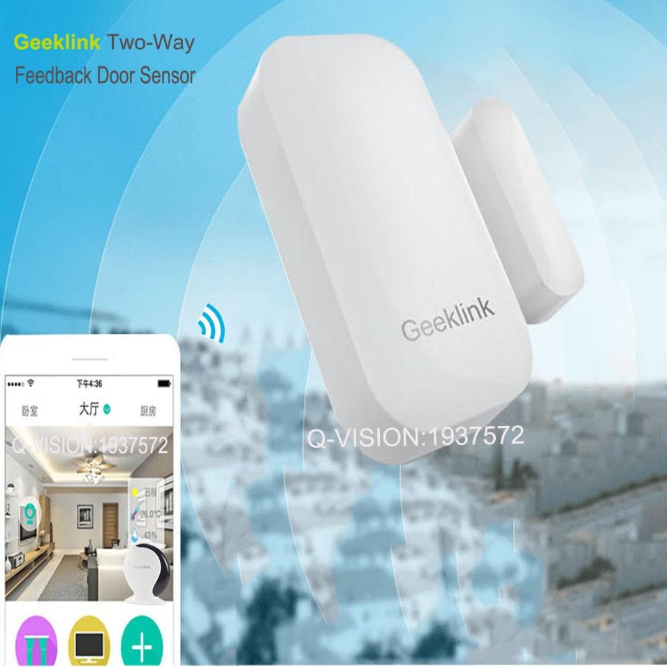 Geeklink Two-Way Feedback Door Sensor Contact Wireless Door Window Magnet Entry Detector Sensor For Smart Home Alarm Security Thinker RemoteBox 3s Extension IP camera