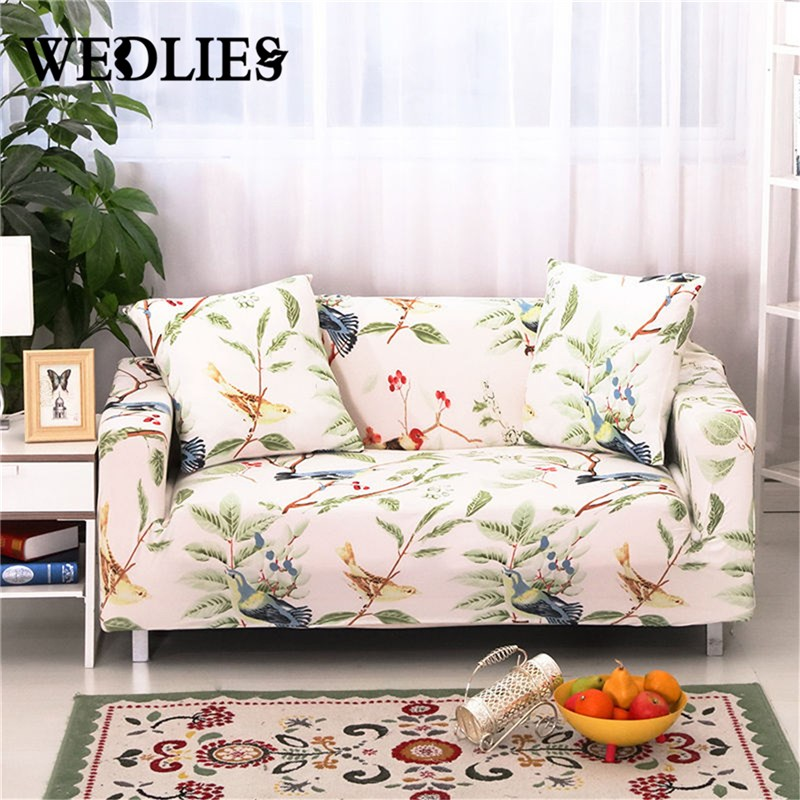 Sofa Protector Slipcovers New Elastic Fabric Protector Bird Fit Stretch Sofa  Slip Over Couch Cover Two