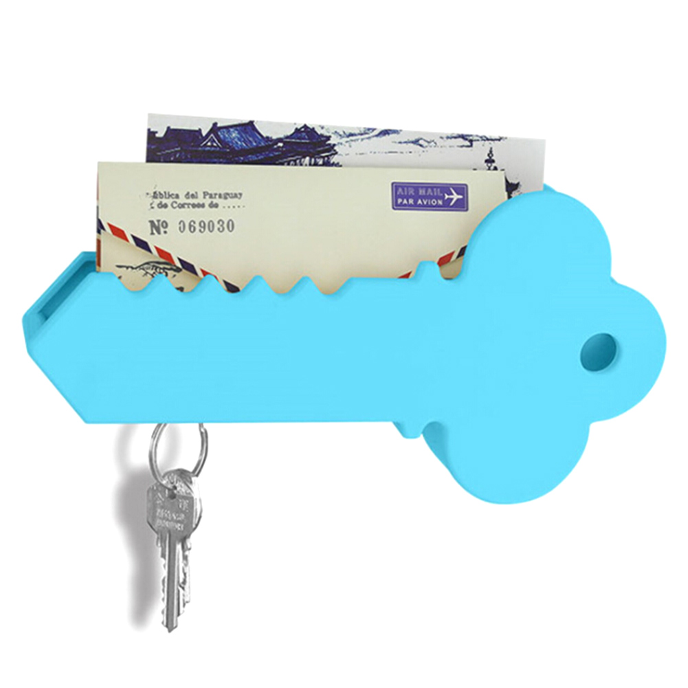 Plastic Hanging Mail Sundries Organizer Rack Shelf Magnetic Key Holder Home Wall Decorative Big Key Holder Box