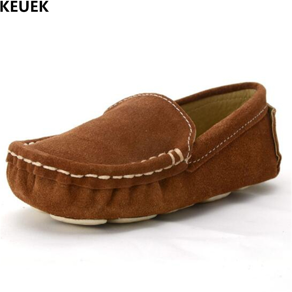 New Baby Toddler Genuine Leather Shoes Boys Girls Casual Loafers Fashion Children Breathable Flats Kids Shoes 019