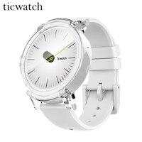 Оригинальный Ticwatch E Ice Смарт часы Android Wear 2,0 MT2601 двухъядерный Bluetooth 4,1 Wi Fi gps Smartwatch телефон сердечного ритма мониторы