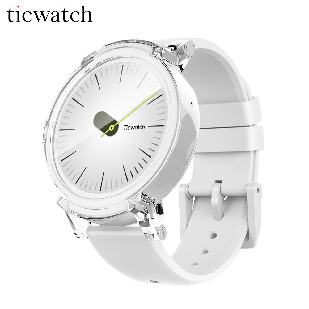 D'origine Ticwatch E Glace Montre Smart Watch Android Porter 2.0 MT2601 Dual Core Bluetooth 4.1 WIFI GPS Smartwatch Téléphone Coeur Taux moniteur