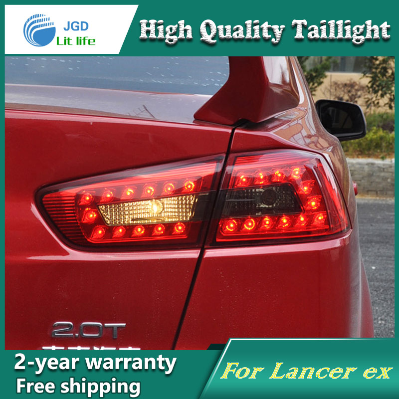 Car LED Tail Light Parking Brake Rear Bumper Reflector Lamp for Mitsubishi Lancer 2009-2014 Red Fog Stop Lights Car styling car led tail light parking brake rear bumper reflector lamp for mitsubishi asx 2013 red fog stop lights car styling