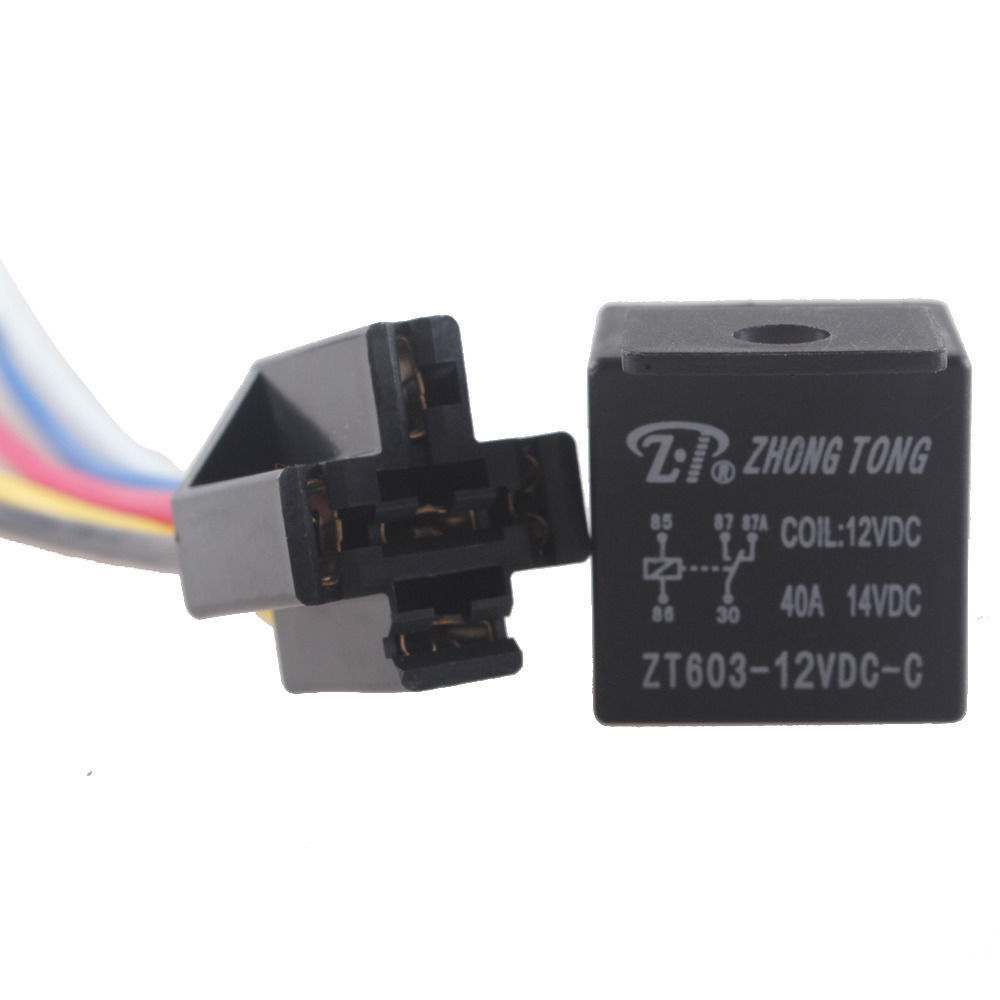 Ee Support 12v 40a 40 Amp Spdt Relay 5 Pin 5p Wire Socket
