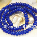 "Natural Stone Blue Jade Jasper 4x6mm Faceted Abacus Rondelle Loose Beads Fit Diy Necklace Bracelet Jewelry Finding 15""MY4317"