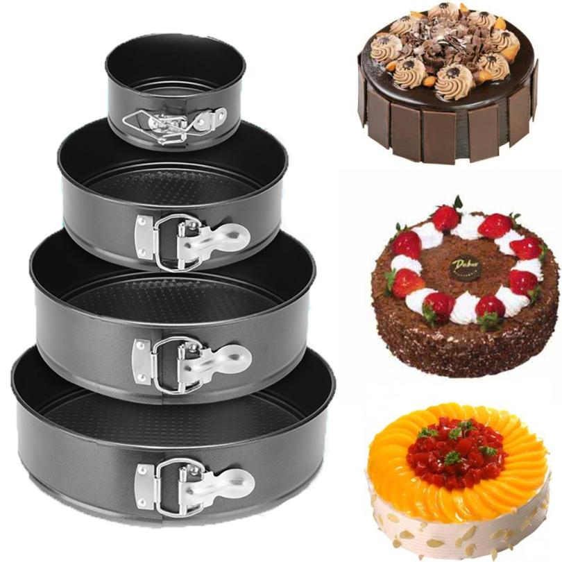 Round cake molds Shaped Removable Bottom Pan With Spring Latch Mold Cake Baking Mould SHIPPING #XG