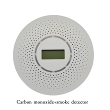 1 PCS Ceiling Standalone Carbon Monoxide and Smoke Combine Detector LCD display screen Fire CO alarm sensor Home security posion