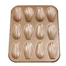 Формочки Для Выпечки из нержавеющей стали Muffin Мадлен Пан 12-полости мадленки для выпекания хлебобулочных изделий кастрюли лоток в форме ракушек пресс-форм с антипригарным покрытием