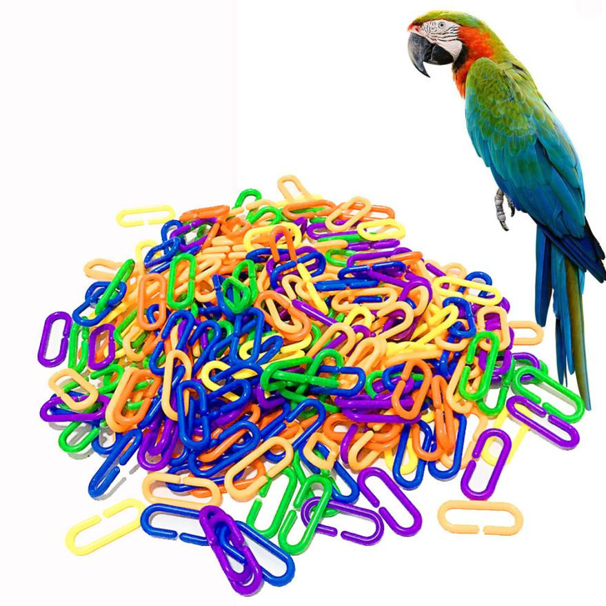 100pc Durable Plastic C-Clips lamp shape buckle Camping Hiking Snap Hooks Chain Links Glider Rat Parrot Bird Toy Parts doll tool Nibbler