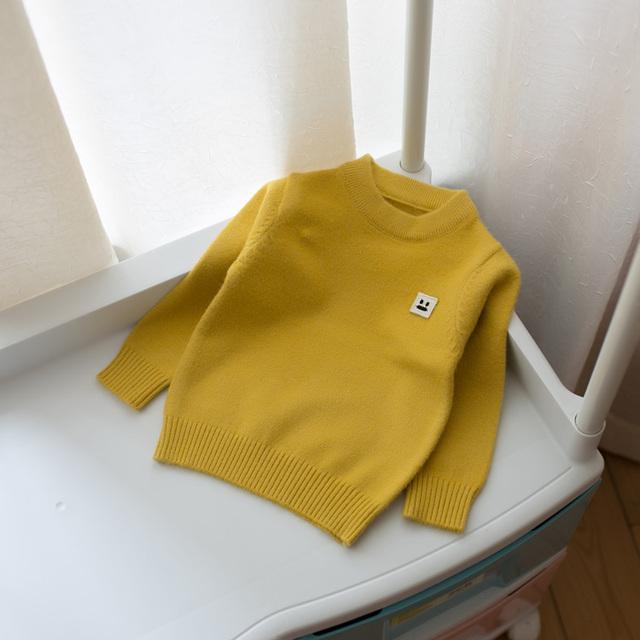 2017 primavera e outono novas crianças meninos e meninas de cor sólida camisola assentamento camisola do bebê crianças camisola de roupas infantis