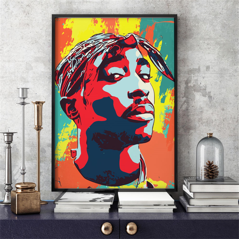 2PAC shakur POSTER 2pac rap legend canvas art music black album print rap canvas