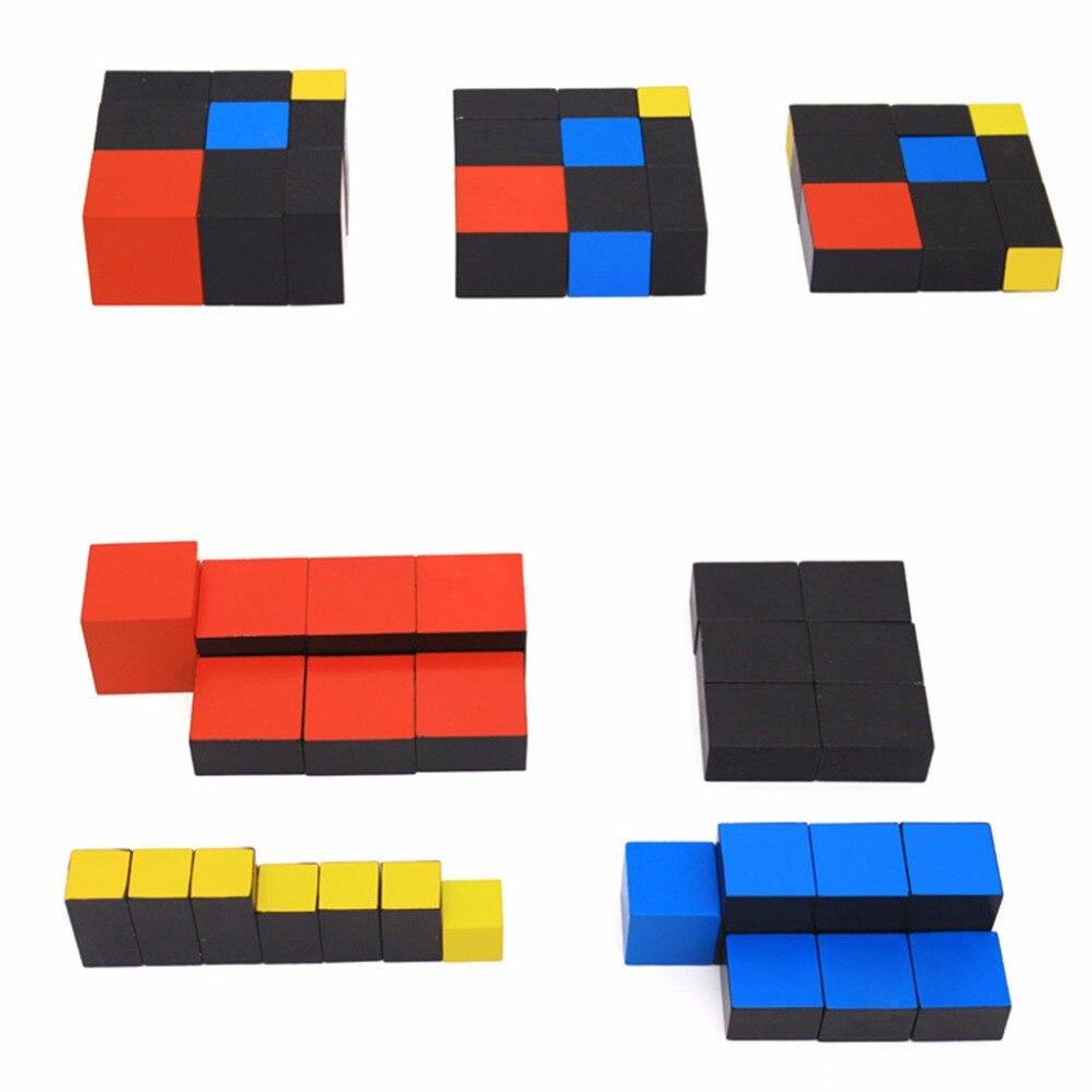 Aprendizagem precoce brinquedos educativos montessori cubo trinomial