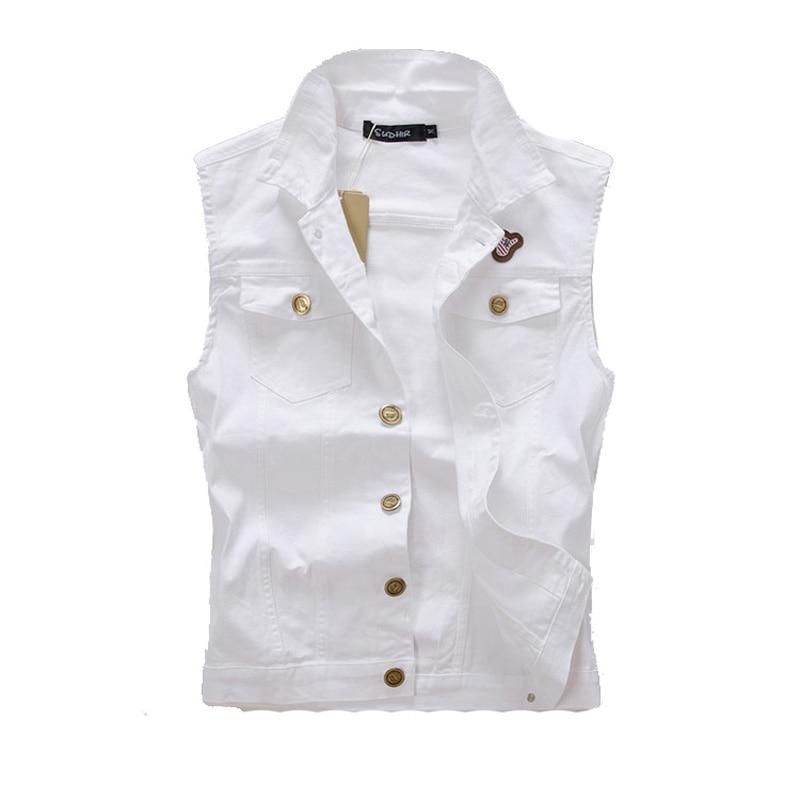 Dimusi 2017 Brand Vest Male Denim Vest Vintage Sleeveless