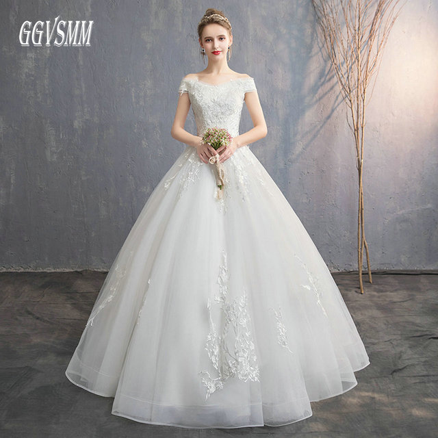 Fashion White Wedding Dress Long 2018 Ivory Wedding Gowns For Women  Sweetheart Appliques Lace Up Ball Gown Bride Dresses Party b9b32d6febe6