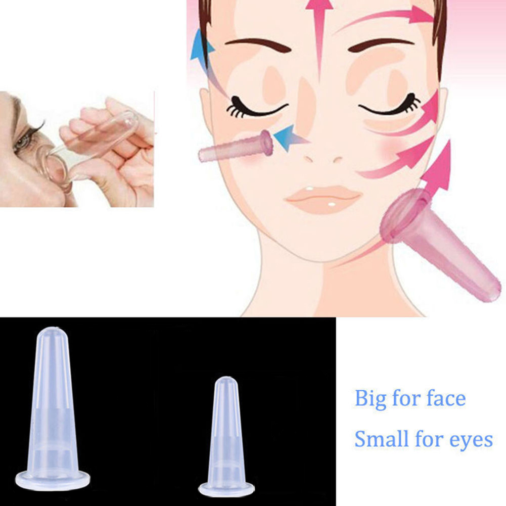 Joylife Silicone Facial Eyes Massage Vacuum Cupping Cup Anti Cellulite For Face Neck Back Eyes Massage Cans Suction Massager(China)