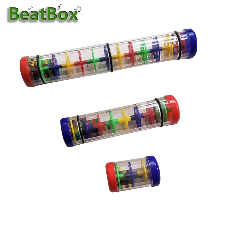BeatBox Colorful  Rainmaker Rain Stick Musical Instrument Toy For Toddler Kids Games KTV Party