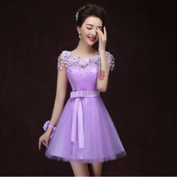 6dfa81cd4dd light purple modest fancy tulle ball gown beautiful short princess style prom  dress cute teen dresses 2017 short W2706