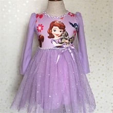 New Girls Princes Dress Disfraz Dress Infantil Fever Costume Vestido Rapunzel Jurk Disfraces Children Dress