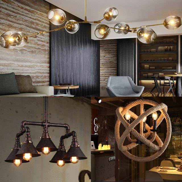 WEEVA LED Filament Bulb E27  E14 Vintage Edison Lamp Chandelier Lighting  Home Decor  DIMMABLE COB 220 Globe Retro Candle Light