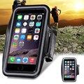 Para el iphone 6 6 S 4.7 / Plus 5.5 caso de entrenamiento cubierta del gimnasio del deporte del sostenedor del caso llave a prueba de agua bolsa para Apple iPhone6 i6 / más