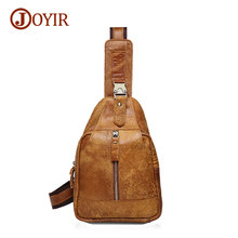 Joyir genuine leather men shoulder bags leisure fashion chest bag pack casual high quality men messenger bags 8101