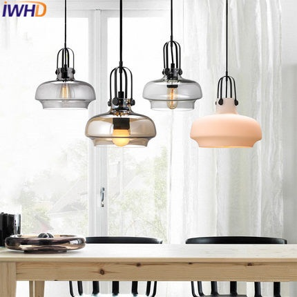 IWHD Modern Glass HangLamp Pendant Lights Fashion Kitchen Lighting Fixtures Luminaire Pendant Lighting Fixtures Lamparas Lustre