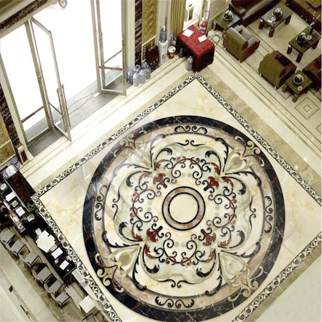 Beibehang Marble Tiles Tile Parquet Wall Paper Painting Bathroom Mural Self Adhesive Pvc Photo Wallpaper